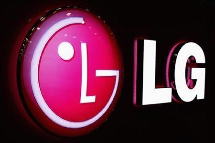 The LG logo is shown at the Cellular Telecommunications Industry Association (CTIA) Enterprise & Applications event in San Diego, California