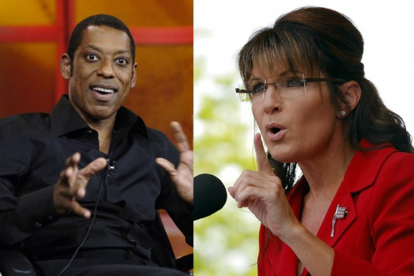 Orlando Jones and Sarah Palin