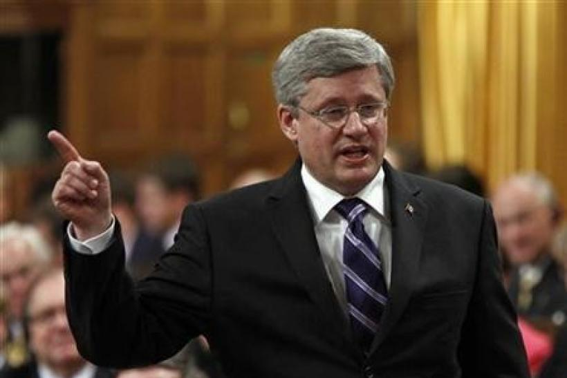 Harper says he is encouraged by euro zone deal