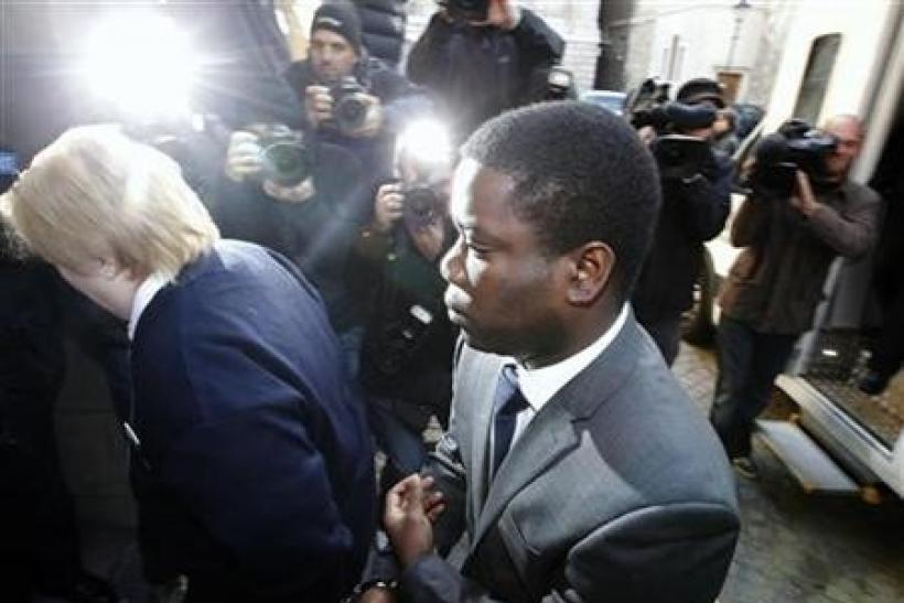 UBS trader Kweku Adoboli arrives at City of London magistrates' court in the City of London