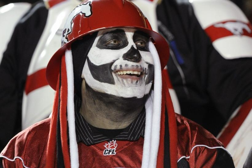 Calgary Stampeders fans dressed up for Halloween