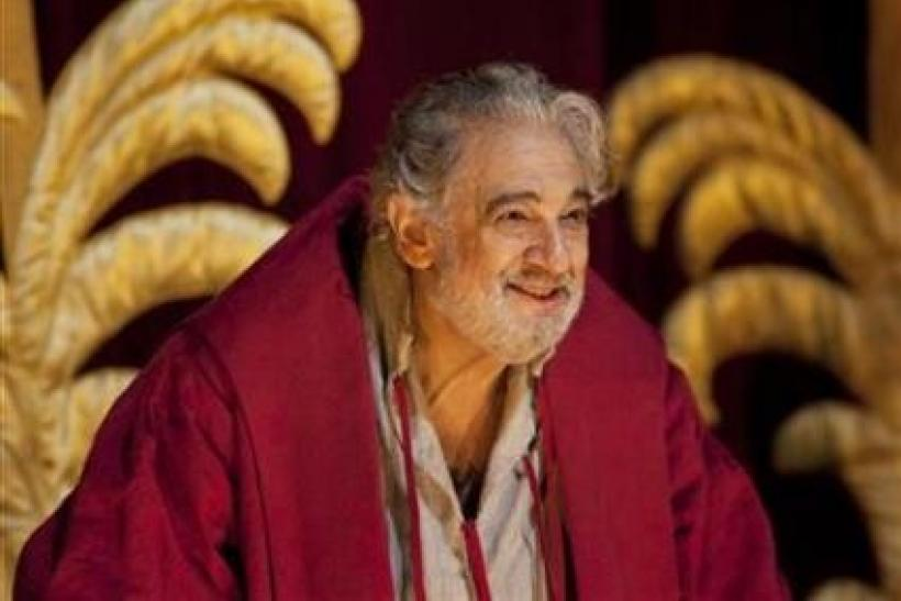 Placido Domingo bows during the curtain call of Placido Domingo Celebration at the Royal Opera House after a special performance to celebrate his 40th anniversary with the Royal Opera in London