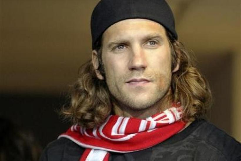 German mid-fielder Torsten Frings watches Toronto FC play Vancouver Whitecaps FC during the second half of their MLS soccer match in Toronto
