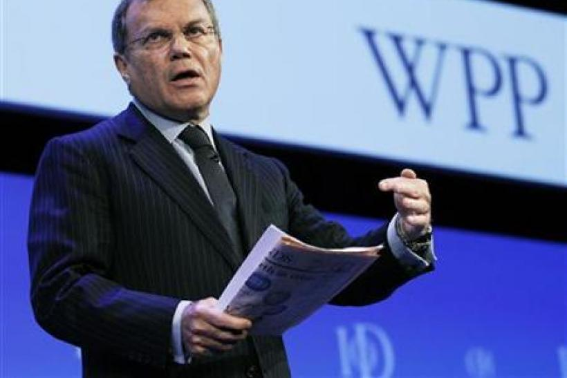 Chief Executive of WPP Group Martin Sorrell speaks at the Institute of Directors IOD annual convention in London