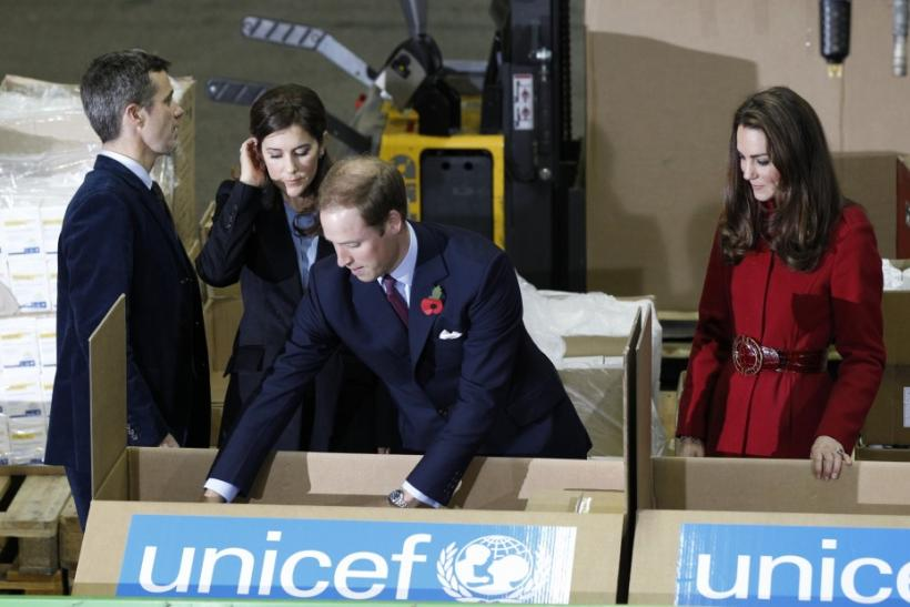 Kate Middleton's Glamorous Looks in Radiant Red During UNICEF Meeting.
