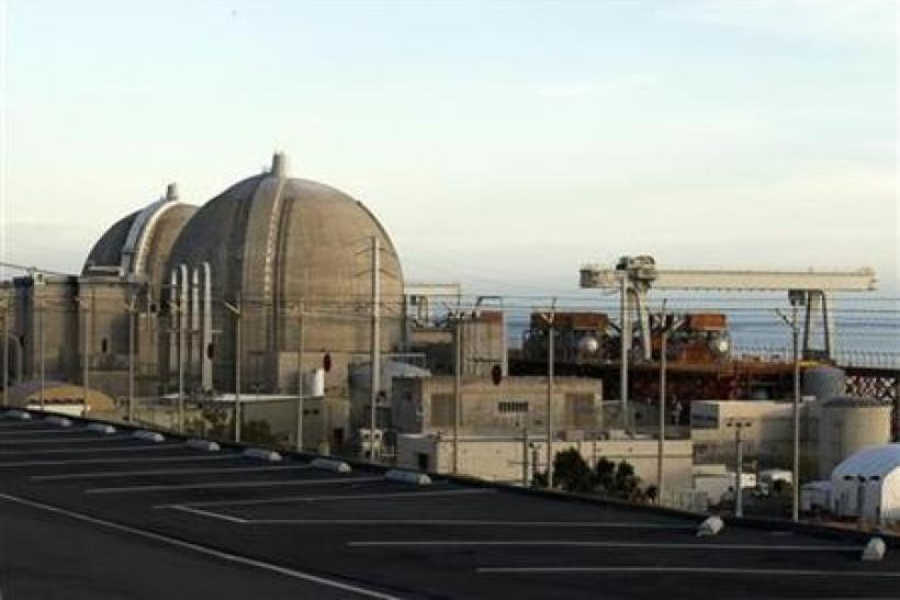 The San Onofre Nuclear Generating plant is seen in North San Diego County, California