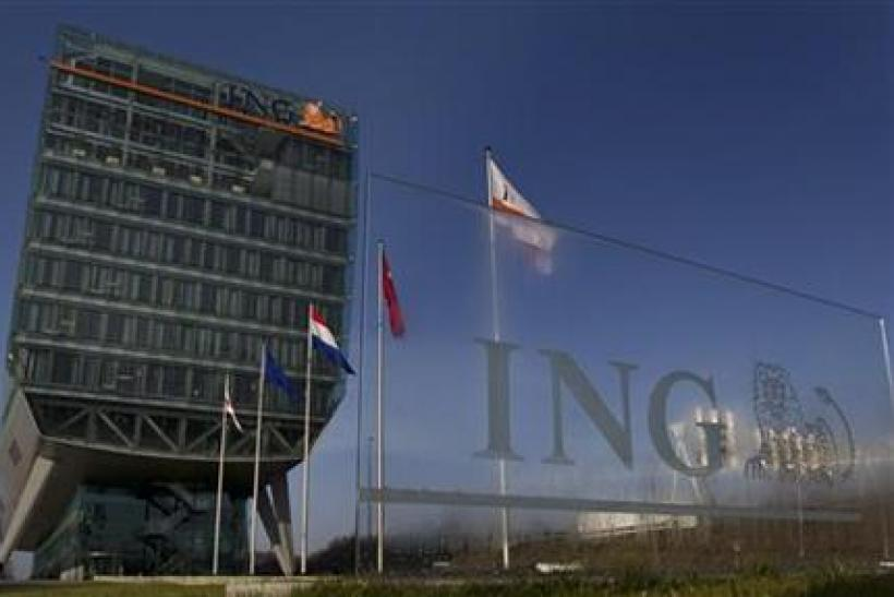 Exterior of the Dutch bancassurer ING before the presentation of the company's 2010 annual results in Amsterdam