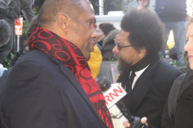 Tavis Smiley and Cornel West at OWS