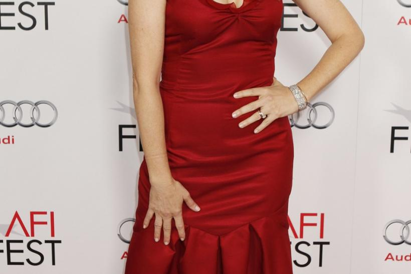 "Actress Lea Thompson poses at the opening night gala for AFI Fest 2011 with the premiere of her new film film ""J. Edgar"" directed by Clint Eastwood in Hollywood"