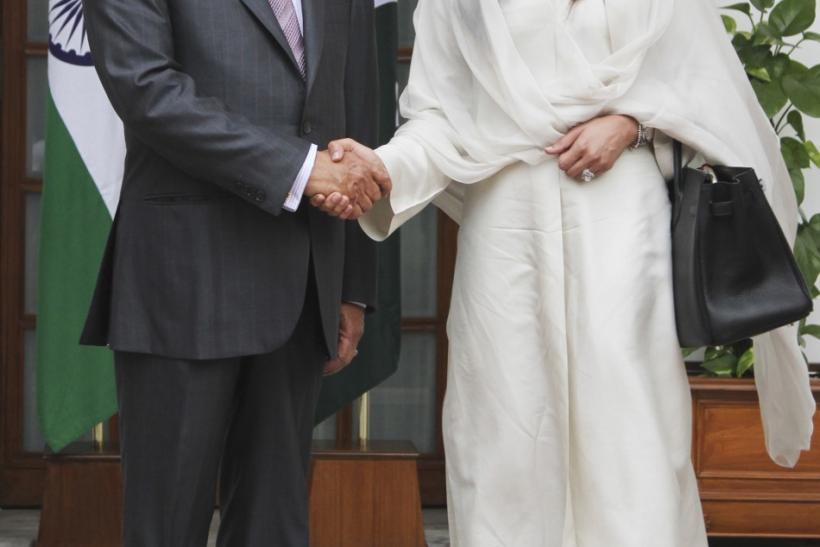 Hina Rabbani Khar and S. M. Krishna