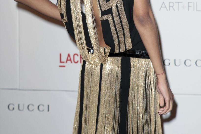 Actress and model Zoe Saldana arrives at the Los Angeles County Museum of Art (LACMA) Art + Film Gala in Los Angeles, California