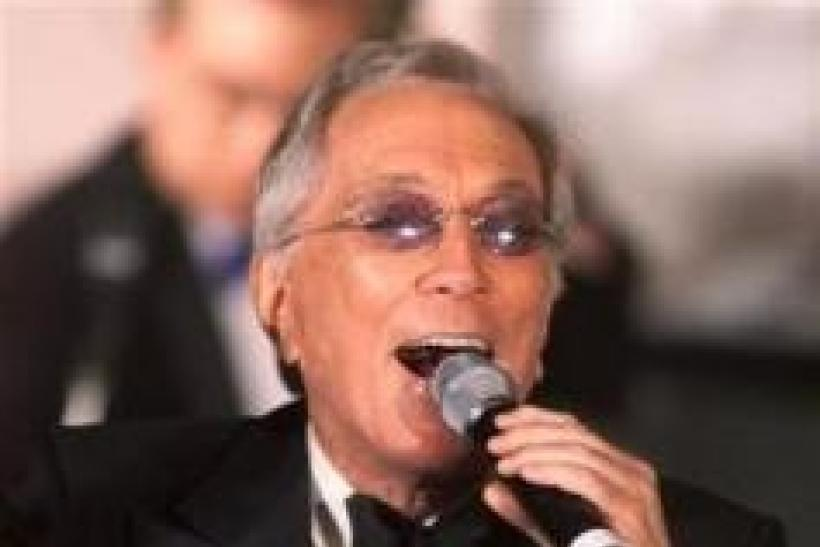 Singer Andy Williams performs ''Moon River'' during a gala salute July 22, 2001 in Beverly Hills honoring comedian Milton Berle's 93rd birthday and his 88th year in show business.
