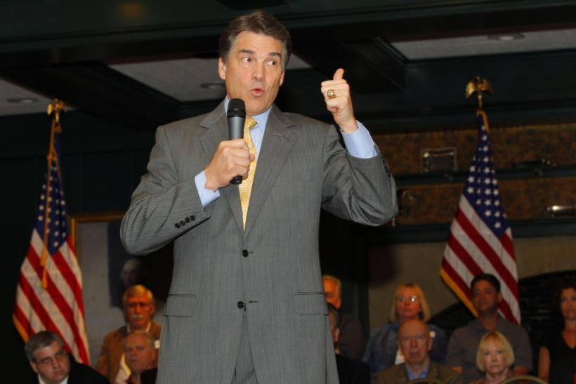 Republican presidential candidate Texas Gov. Rick Perry