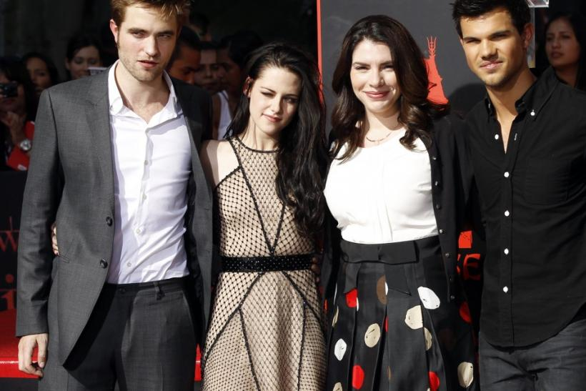"""Twilight"" author Stephenie Meyer with movie cast members."