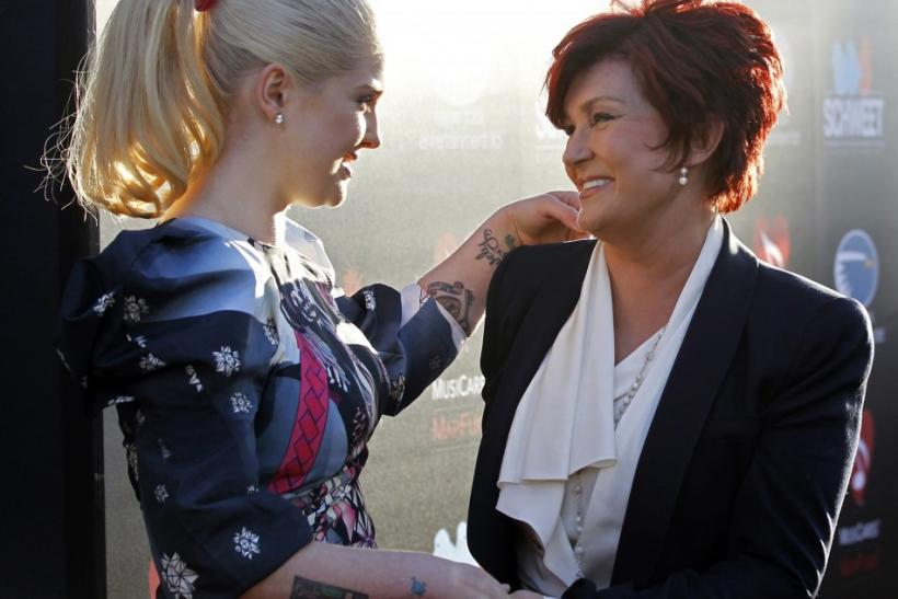 Kelly Osbourne and mom, Sharon.