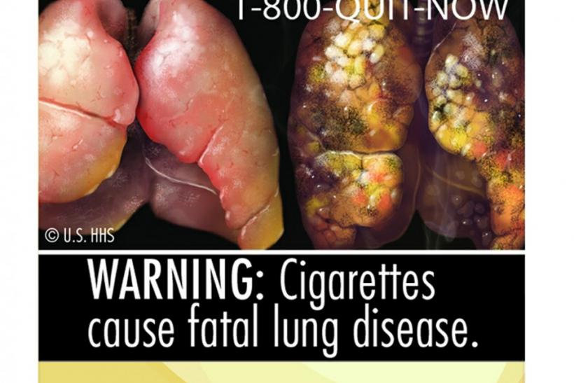 Handout images of new cigarette packaging released by US Food and Drug Administration.