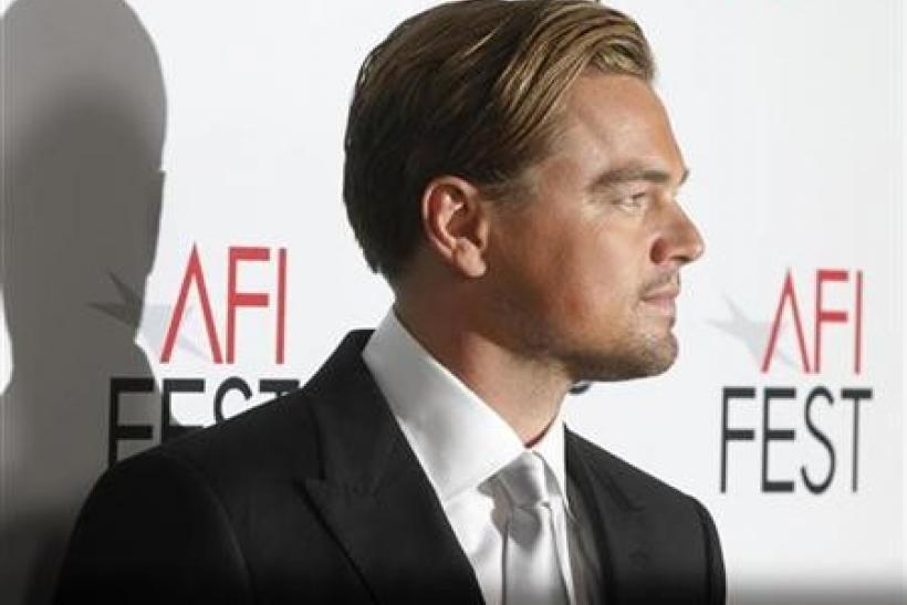 Actor Leonardo DiCaprio poses at the opening night gala for AFI Fest 2011 with the premiere of his new film film ''J. Edgar'' directed by Clint Eastwood in Hollywood November 3, 2011.