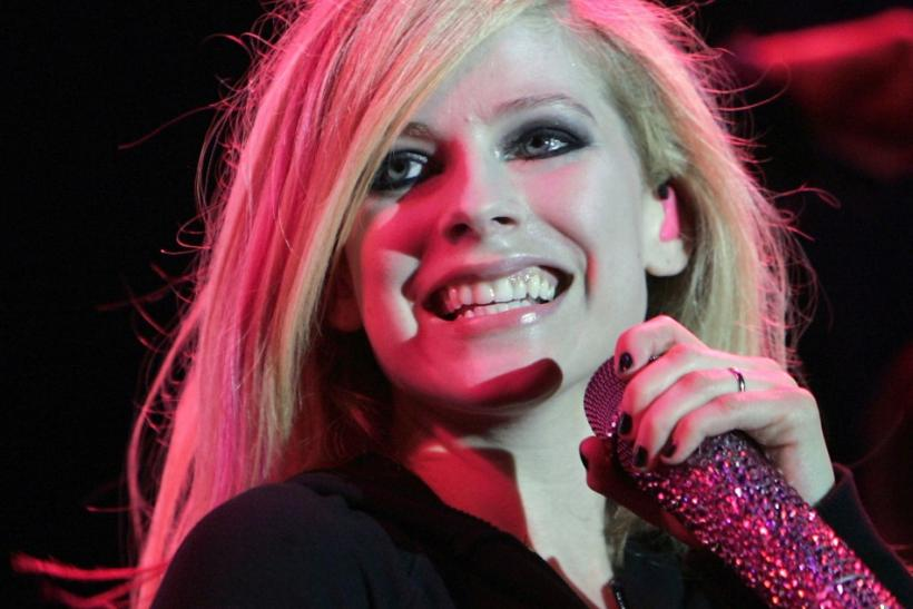 Singer Avril Lavigne performs on stage during her concert in Budapest