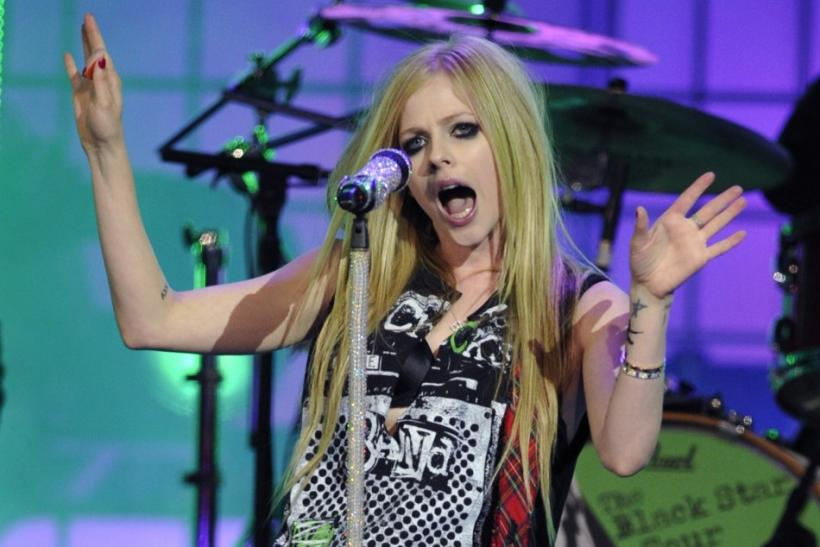 "Avril Lavigne performs ""What the Hell"" during the MuchMusic Video Awards in Toronto"