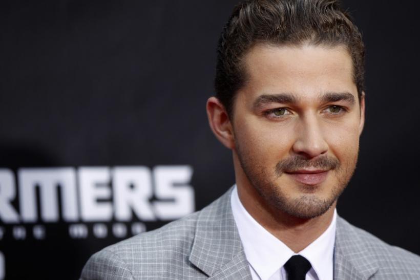 "Cast member Shia LaBeouf arrives for the premiere of ""Transformers: Dark of The Moon"" in Times Square in New York"
