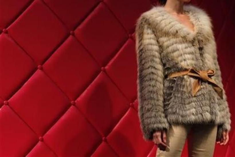 A model presents a fur outfit during a Hong Kong Fur Federation show as part of the Hong Kong Fashion Week for Fall/Winter 2011 January 18, 2011.