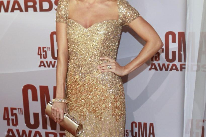 Singer Carrie Underwood arrives at the 45th Country Music Association Awards in Nashville