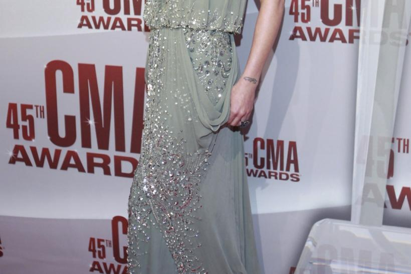 Jennifer Nettles from the band Sugarland arrives at the 45th Country Music Association Awards in Nashville
