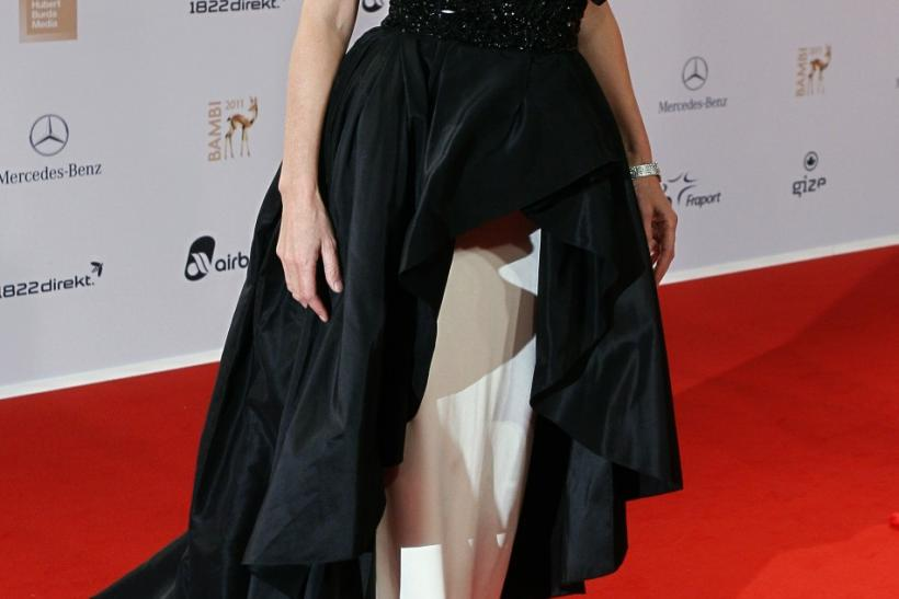 German actress Maria Furtwaengler arrives on the red carpet for the 63rd Bambi media awards ceremony in Wiesbaden