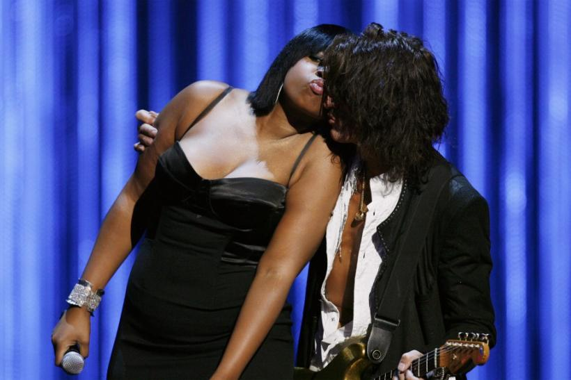 Jennifer Hudson and Joe Perry