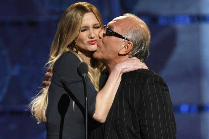 Ashlee Simpson and Max Azria