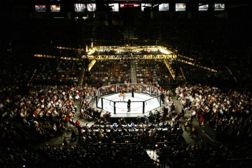 Nick Diaz and Josh Neers fight in the welterweight bout at UFC 62 at Mandalay Bay in Las Vegas, Nevada