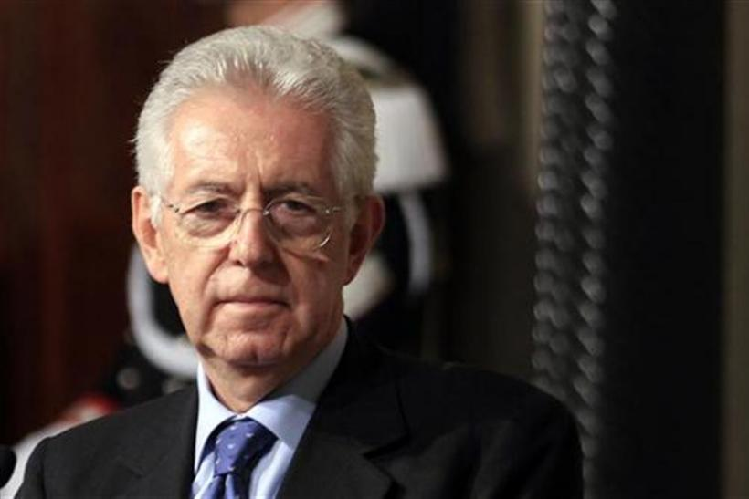 Newly appointed Prime Minister Monti looks on following a talk with Italian President Giorgio Napolitano at the Quirinale palace in Rome