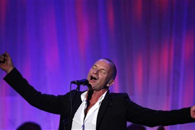 Musician Sting performs at the Clinton Global Initiative in New York
