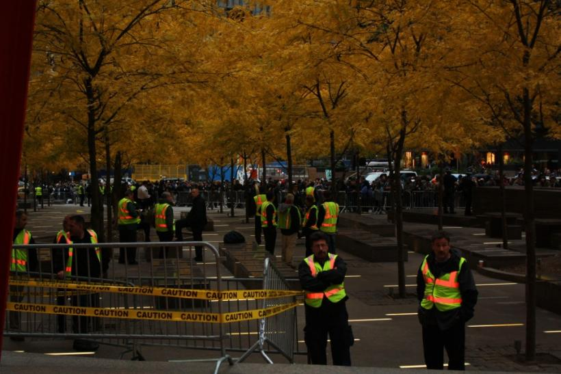 NYPD lockdown at Zuccotti Park