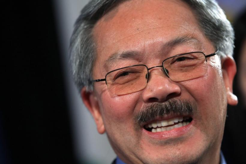 San Francisco Mayor Ed Lee speaks at his election day party in San Francisco
