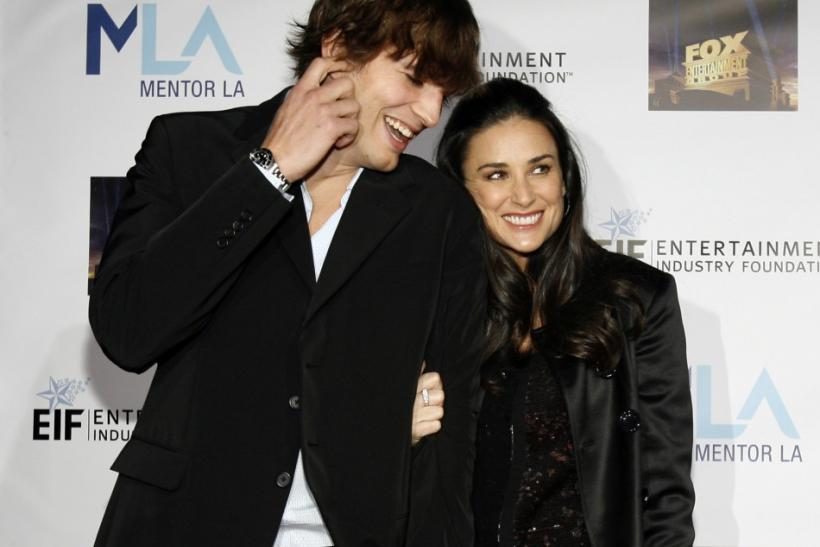 Ashton Kutcher and Demi Moore attend the Mentor LA's Promise gala in Los Angeles