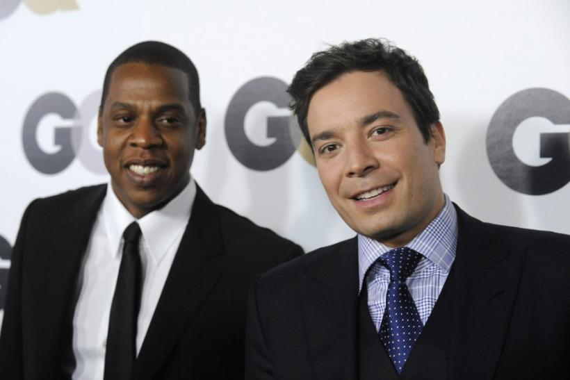 "Rapper Jay-Z (L) and talk show host Jimmy Fallon attend the GQ ""Men of the Year"" party in Los Angeles"