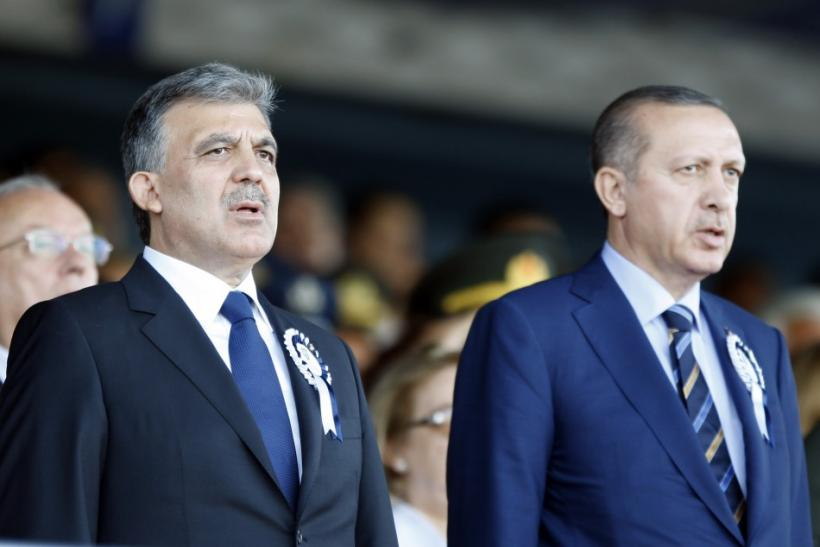 Turkey's President Gul and Turkey's Prime Minister Erdogan