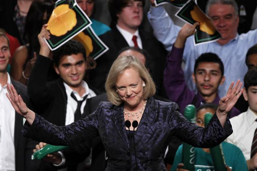 California Republican gubernatorial candidate Meg Whitman speaks to supporters during her election night loss in Los Angeles