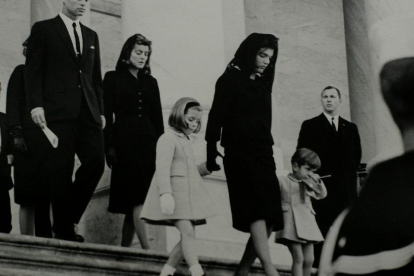 President John F. Kennedy's brother, U.S. Attorney General Robert F. Kennedy, his sister Patricia Lawford, his daughter Caroline Kennedy, his widow Jacqueline Bouvier Kennedy and his son John F. Kennedy Jr.