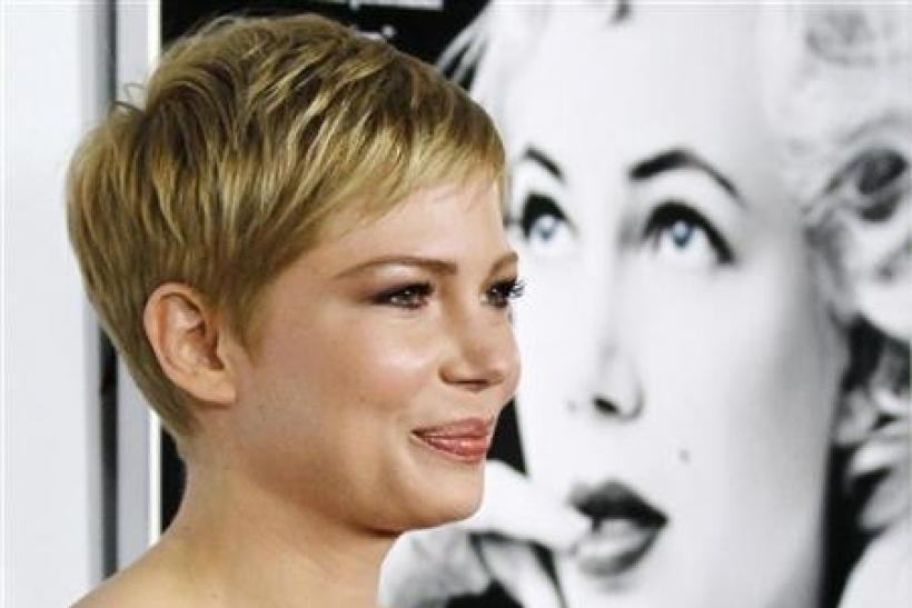 Actress Michelle Williams, who portrays Marilyn Monroe in the film ''My Week With Marilyn'', poses at a screening of the movie during AFI Fest 2011 in Hollywood
