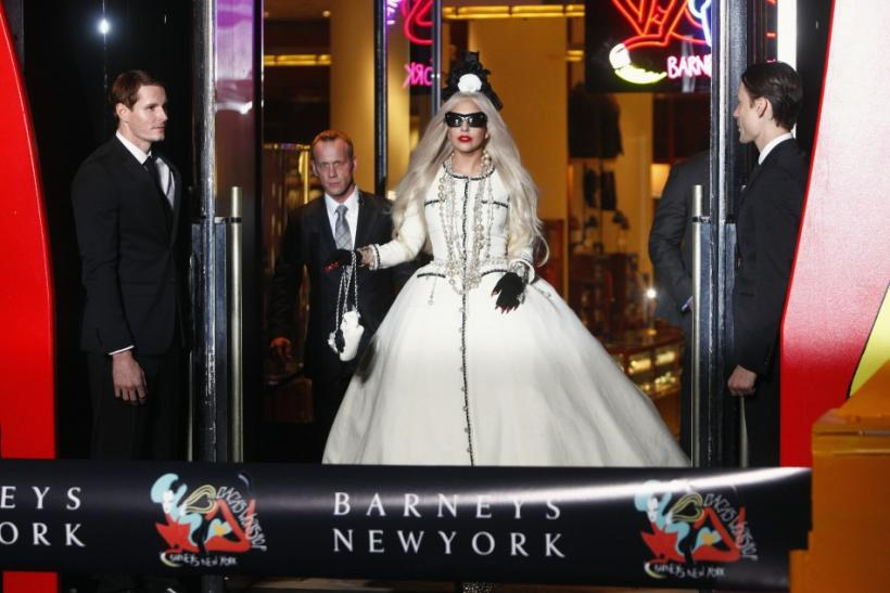 Singer Lady Gaga appears at a ribbon cutting ceremony of Gaga's Workshop at luxury department store Barneys in New York