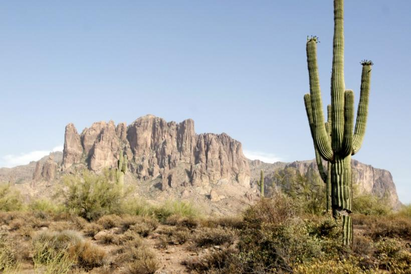A airlifted rescue crew may be launched to search for the bodies inside the plane that crashed and caused a fire in the Superstition Mountains in Arizona, about 40 miles east of Phoenix on Wednesday, said Pinal County Sheriff's Office spokesman Elias John
