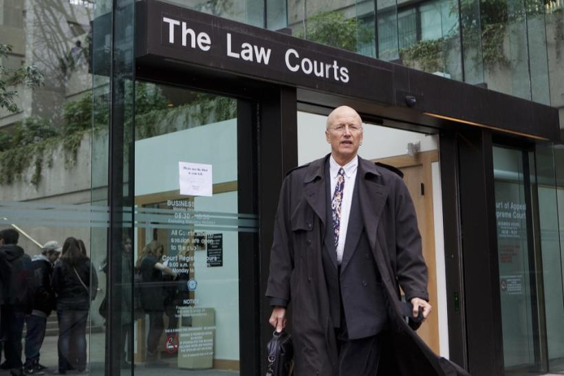 Lawyer Ince walks out of the B.C Supreme Court in Vancouver