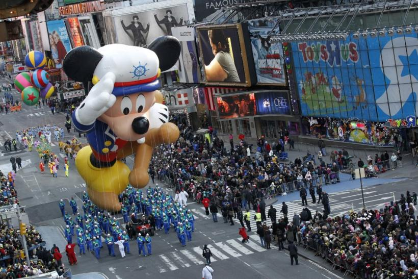 Giant Balloons Dazzle Onlookers During the 85th Macy's Thanksgiving Day Parade