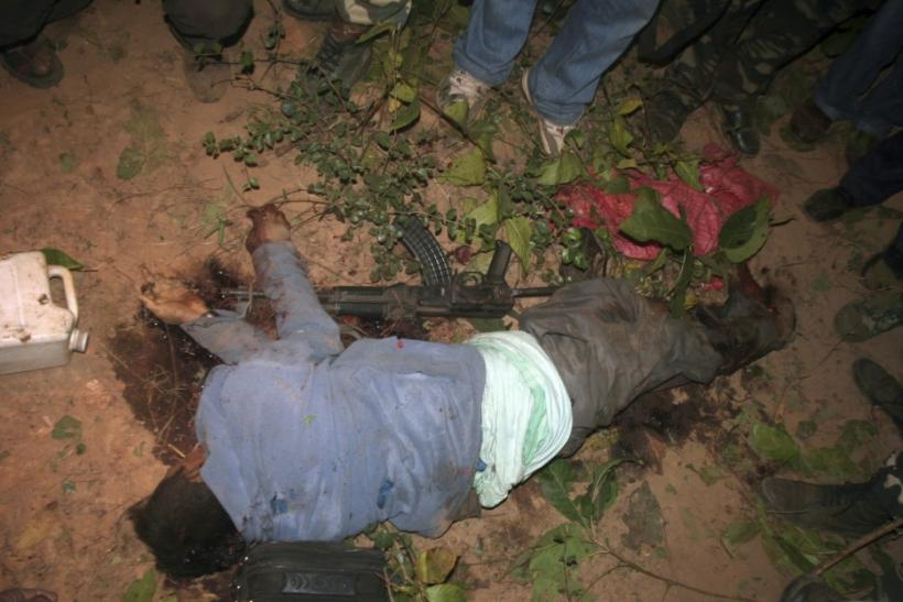 A body, believed to be that of Koteshwar Rao, also known as Kishenji, the top military commander of India's Maoist rebels, lies in a Burisole jungle at the West Midnapore district of the eastern Indian state of West Bengal