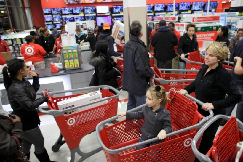 Shoppers fill a Target Store in Chicago