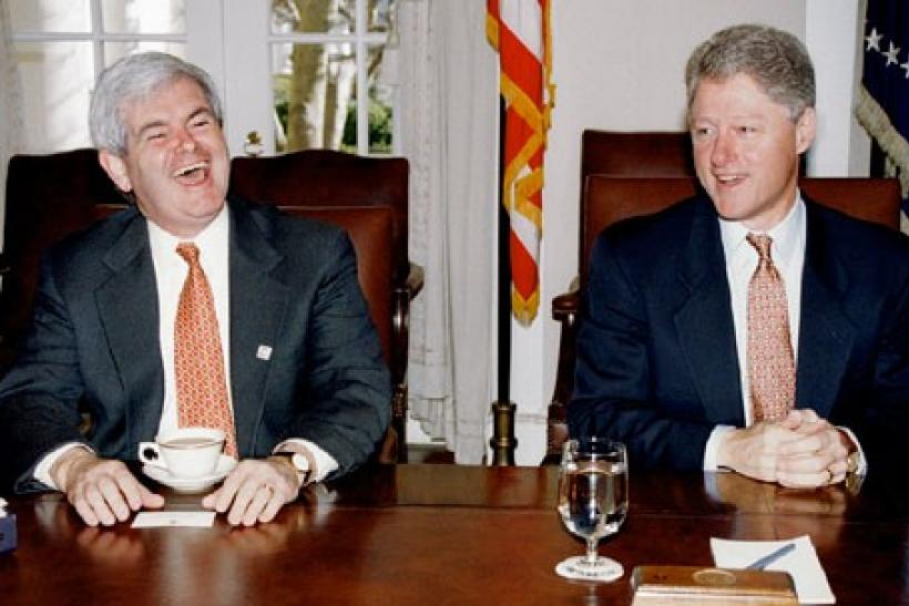 Gingrich and Clinton
