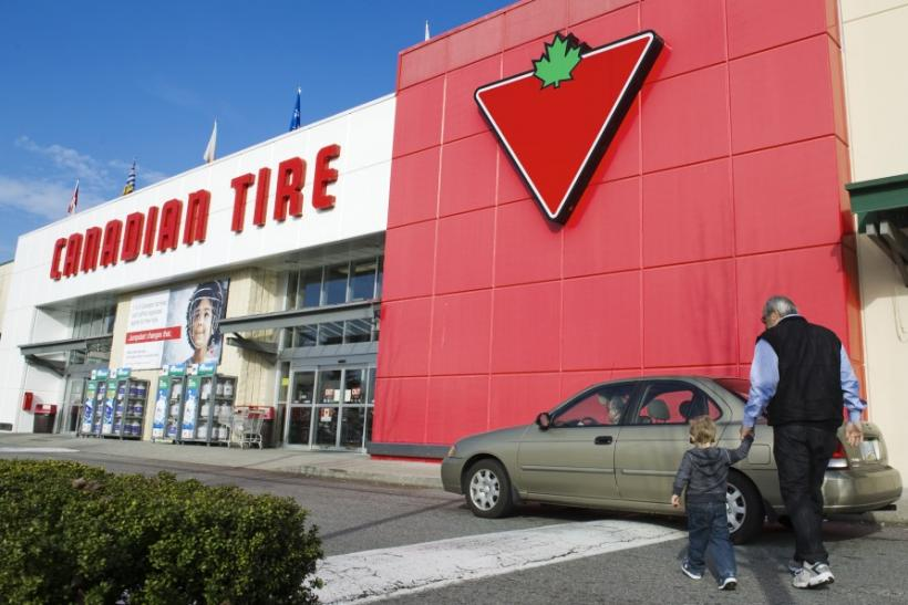 Customers arrive at the Canadian Tire store in North Vancouver