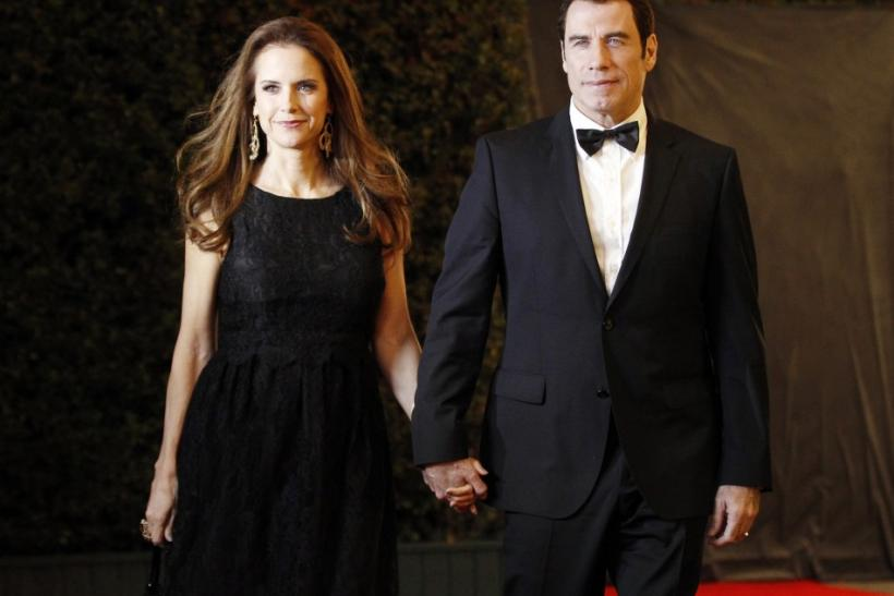 Actors Kelly Preston (L) and John Travolta (R)